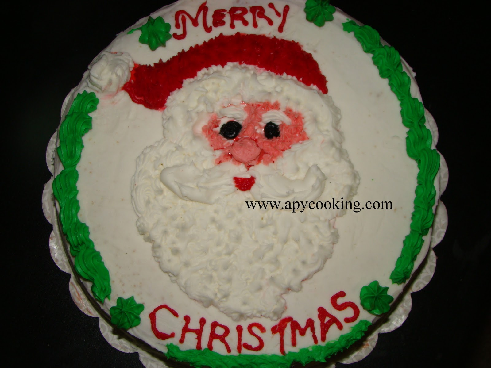 Apy Cooking Merry Christmas Reposting Santa Claus Cake