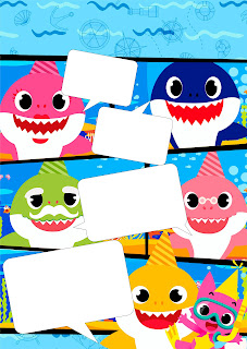 Baby Shark: Baby Shark Free Printable Invitations.
