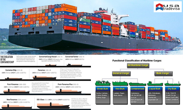CONTAINER SHIP TYPES AND CATEGORIES