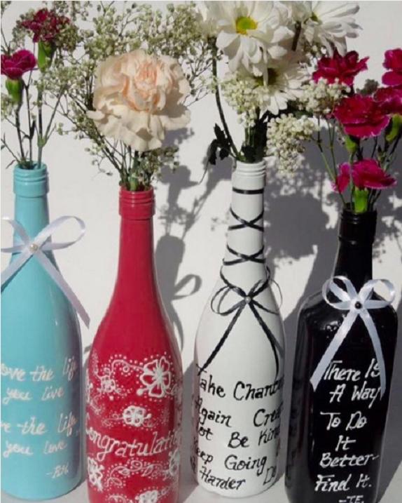 101 fiestas ideas para reciclar y decorar botellas - Ideas para decorar botellas ...