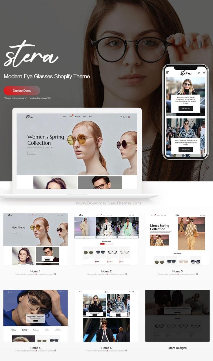 Modern Eye Glasses Responsive Shopify Theme