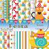 Kit digital papel Festa gratis