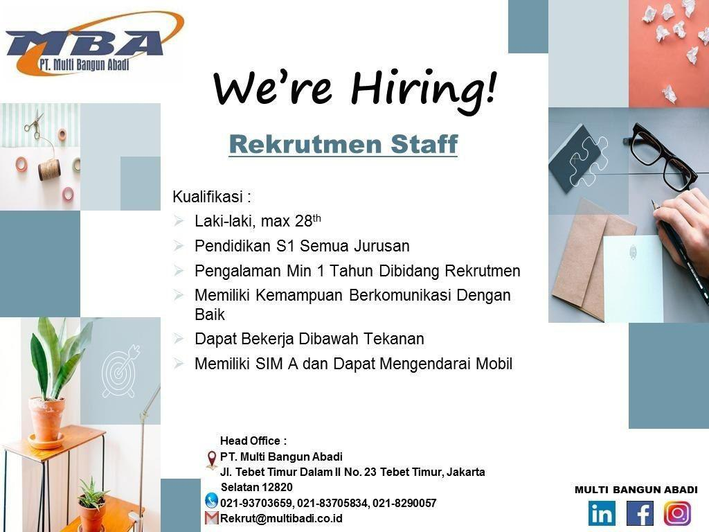 Lowongan Kerja PT. Multi Bandung Abadi Januari 2019