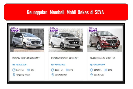 Pilihan Mobil Bekas di SEVA