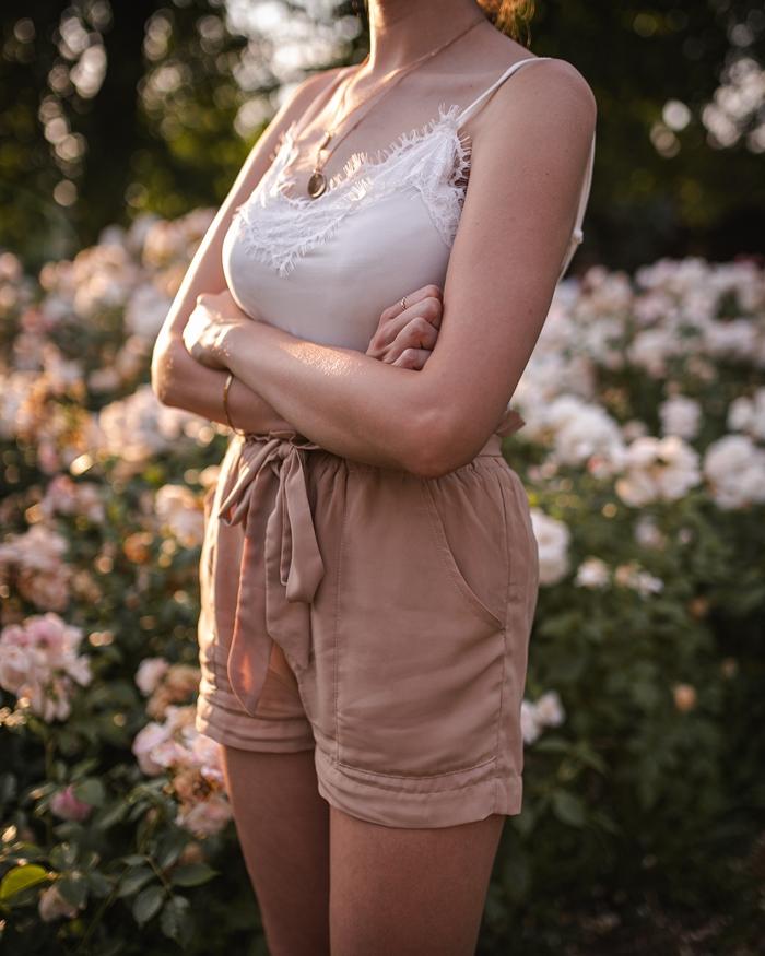szorty i bluzka
