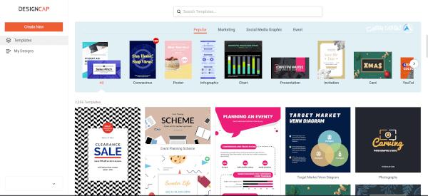 أجعل التصميم الجرافيكي أسهل مع موقع DesignCap