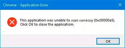 Perbaiki Google Chrome Error 0xc00000a5