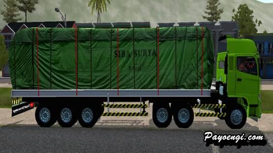 mod bussid hino 500 trailer siba surya