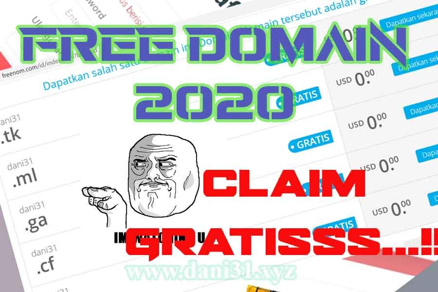 Free Domain Gini Cara Mendapatkannya