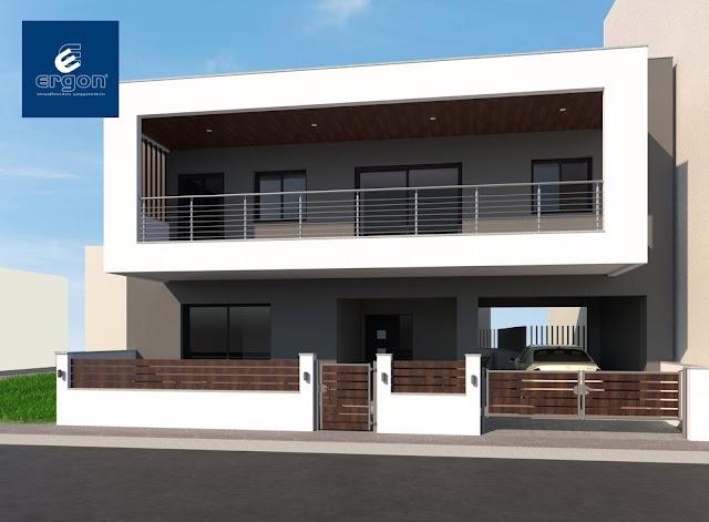 ERGON Σύμβουλοι Μηχανικοί®: Μια πολυτελής διώροφη μονοκατοικία ετοιμάζεται στην Πολίχνη