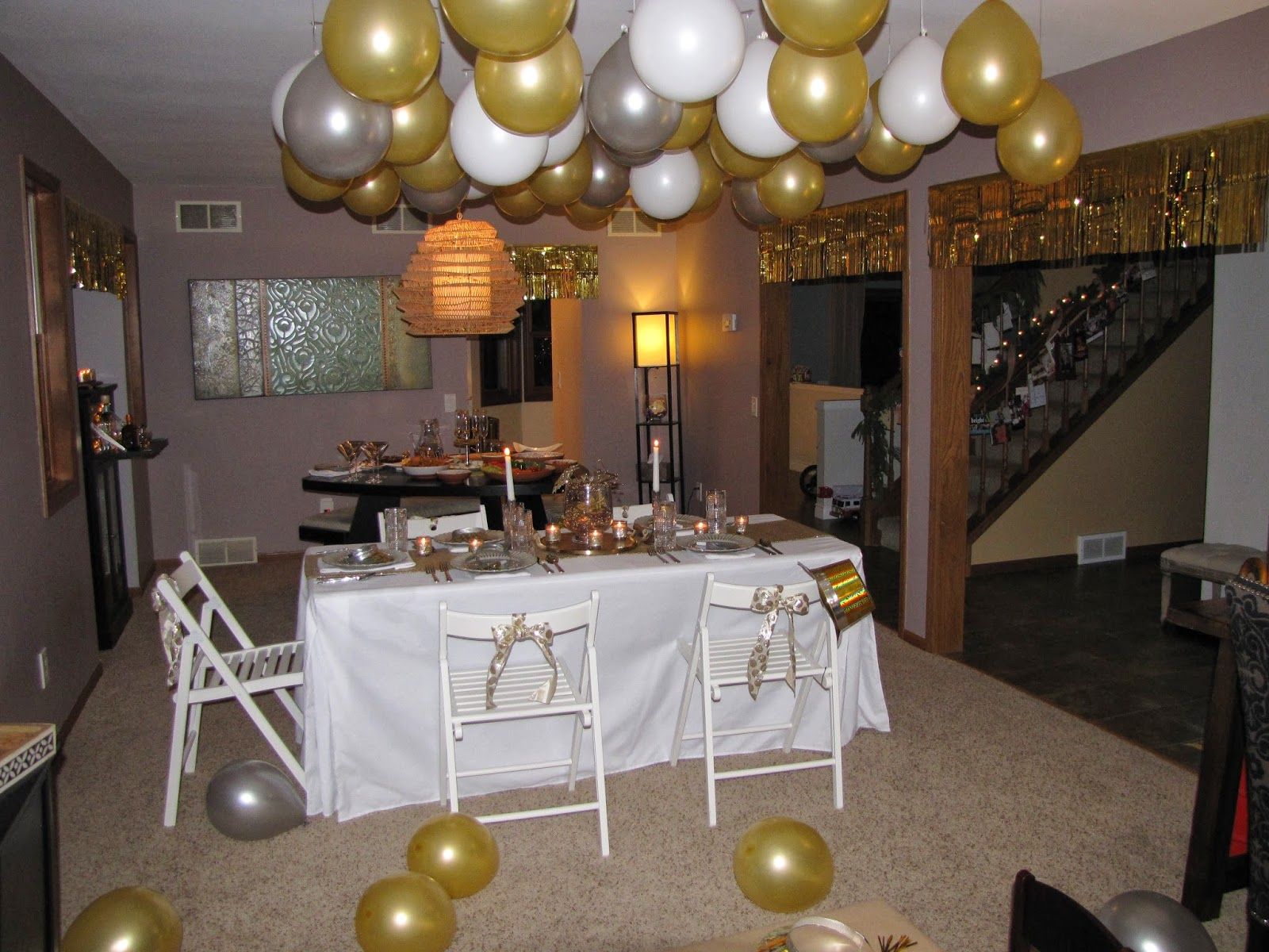 Wispy House  Gold   Silver New Year s Eve Party