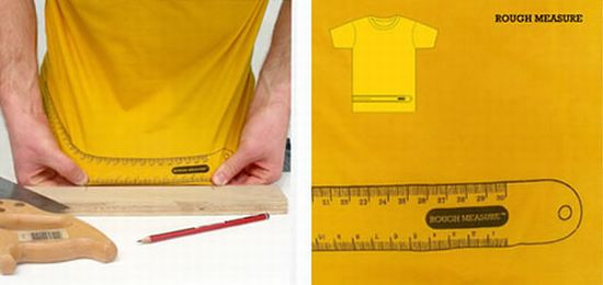 Impresión de camiseta con regla