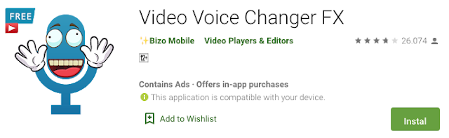 Video Voice Changer FX