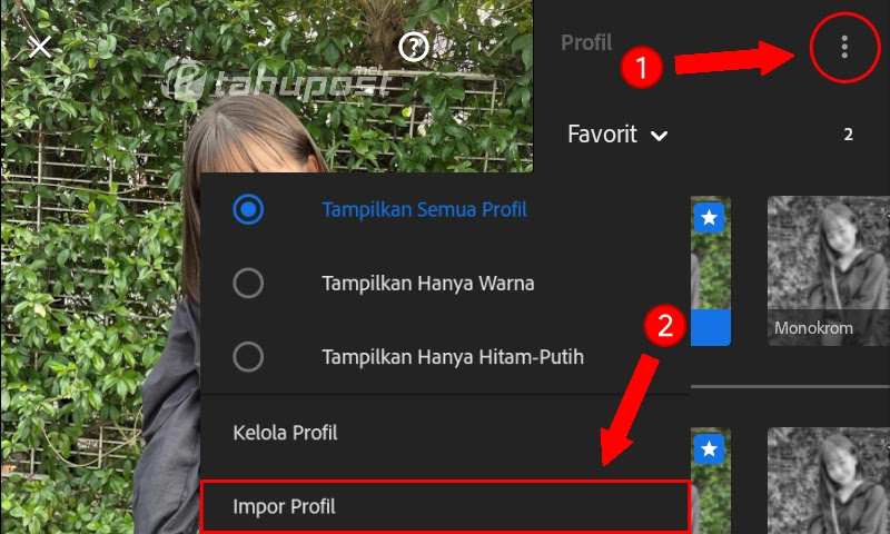 Impor Profil di Lightroom