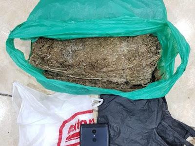 Polda Kepri Amankan Ganja 1200 Gram di Pinggir Jalan Batam