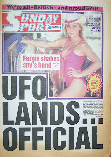Vintage Sunday Sport newspaper front page from 12th July 1987