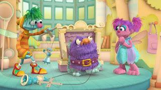 Abby's Flying Fairy School Pinocchio Process, Abby Cadabby Blögg Gonnigan, Sesame Street Episode 4313 The Very End of X season 43