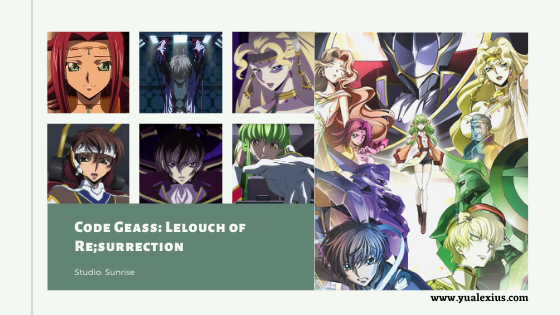 Code Geass Lelouch of Resurrection Anime Movie 2019
