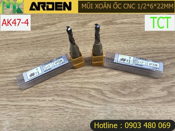 Mũi xoắn ốc CNC TCT 1/2x6x22mm AK47-4