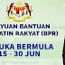 Permohonan Rayuan BPR  Bermula 15 - 30 Jun