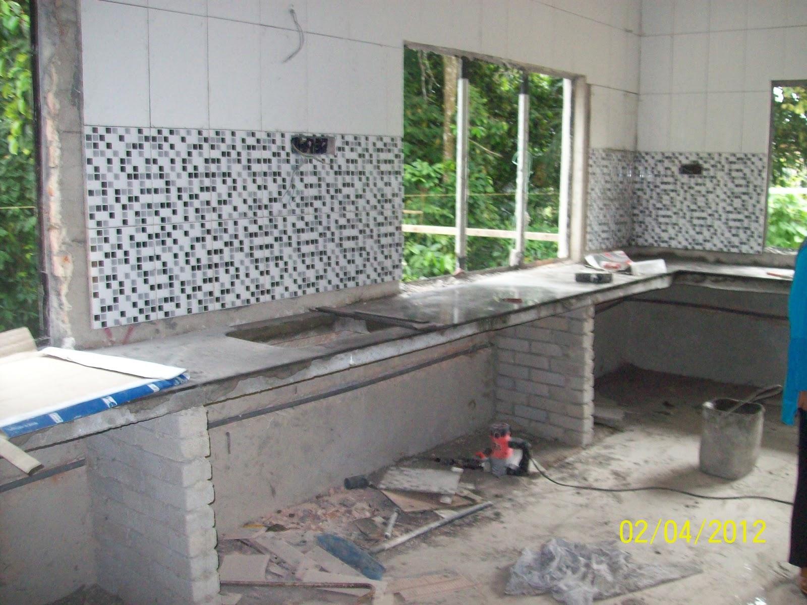 Pembinaan Table Top Untuk Dapur Kering Dan Basah