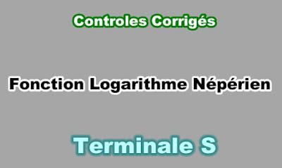 Controles Corrigés de Fonction Logarithme Népérien Terminale S PDF