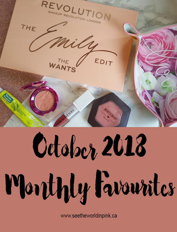 October 2018 - Monthly Favorites!