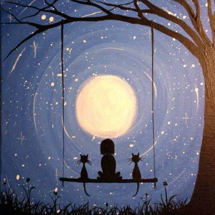 Fica Caomigo Noite Lindos Desenhos Com Animais