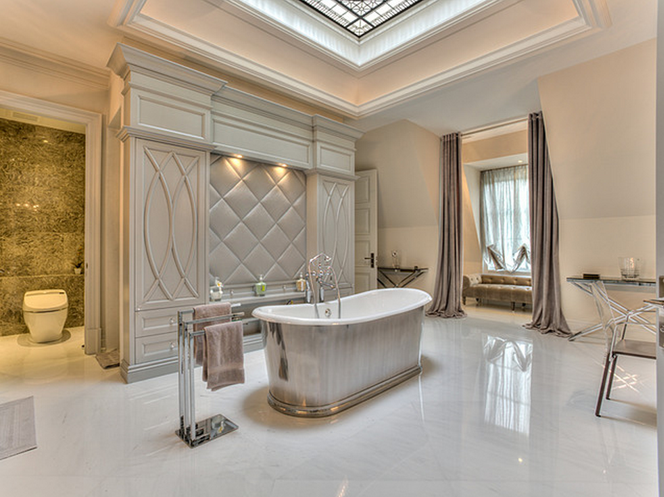 An Elegant Stately French Inspired Stone Mansion With All