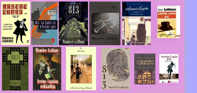 Portadas de 813 o «La doble vida de Arsenio Lupin» y «Los tres crímenes de Arsenio Lupin»
