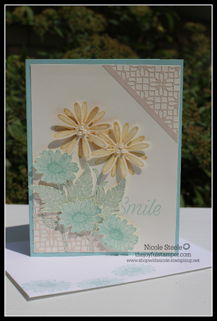 Spring- like card using Stampin' Up!'s Daisy Lane set and punches
