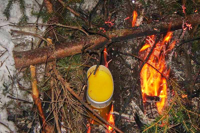 Греем апельсиновый сок