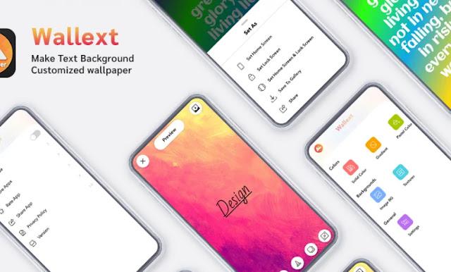 تحميل تطبيق Wallext Make Text Background Customized wallpaper APK