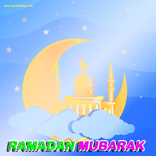 ramadan crescent moon mosque background Ramadan Mubarak Ramadan Eid 2019 greetings