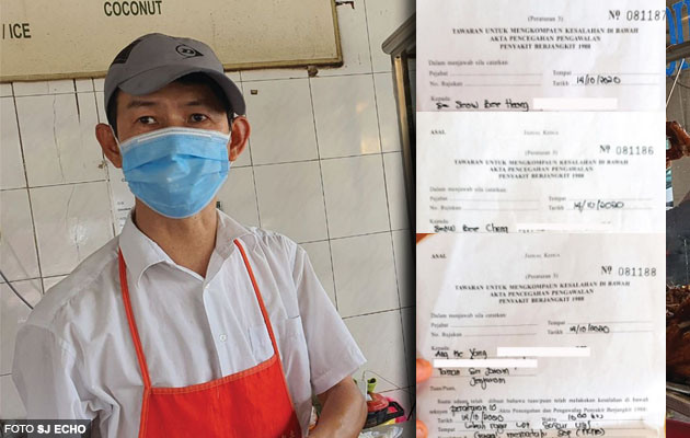'Peniaga nak cari makan, ko kompaun sampai RM3,000' - Langgar SOP 2 orang dalam kereta, peniaga gerai nasi ayam dikompaun
