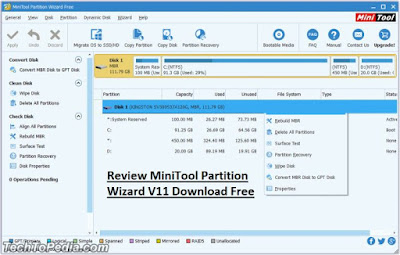 Review MiniTool Partition Wizard V11 Download Free
