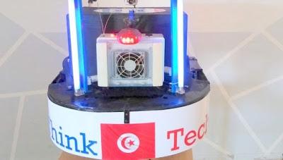 روبوت تونسي لتعقيم المستشفيات و المؤسسات عن بعد