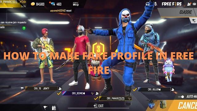 How to make fake profile on free fire? | Free Fire Tricks