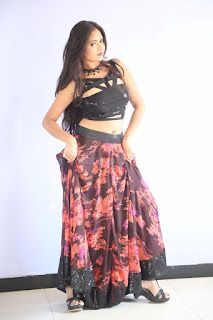 Shriya Vyas in a Tight Backless Sleeveless Crop top and Skirt 86.JPG