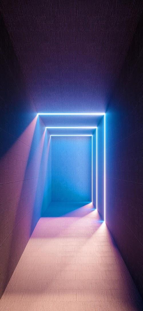 3D Glow Room | Mobile Wallpaper
