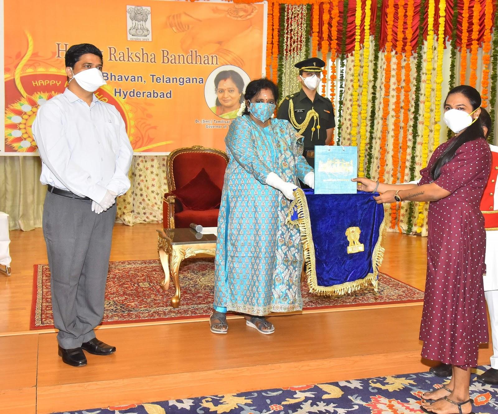 Telangana Governor celebrates Raksha Bandhan in a unique way with ...
