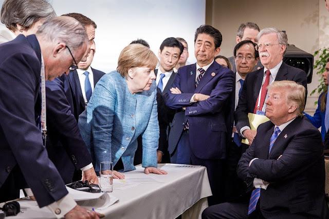 Merkel Trump, réunion du G7, 9 juin 2018