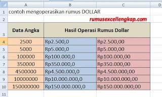 contoh hasil operasi rumus dollar