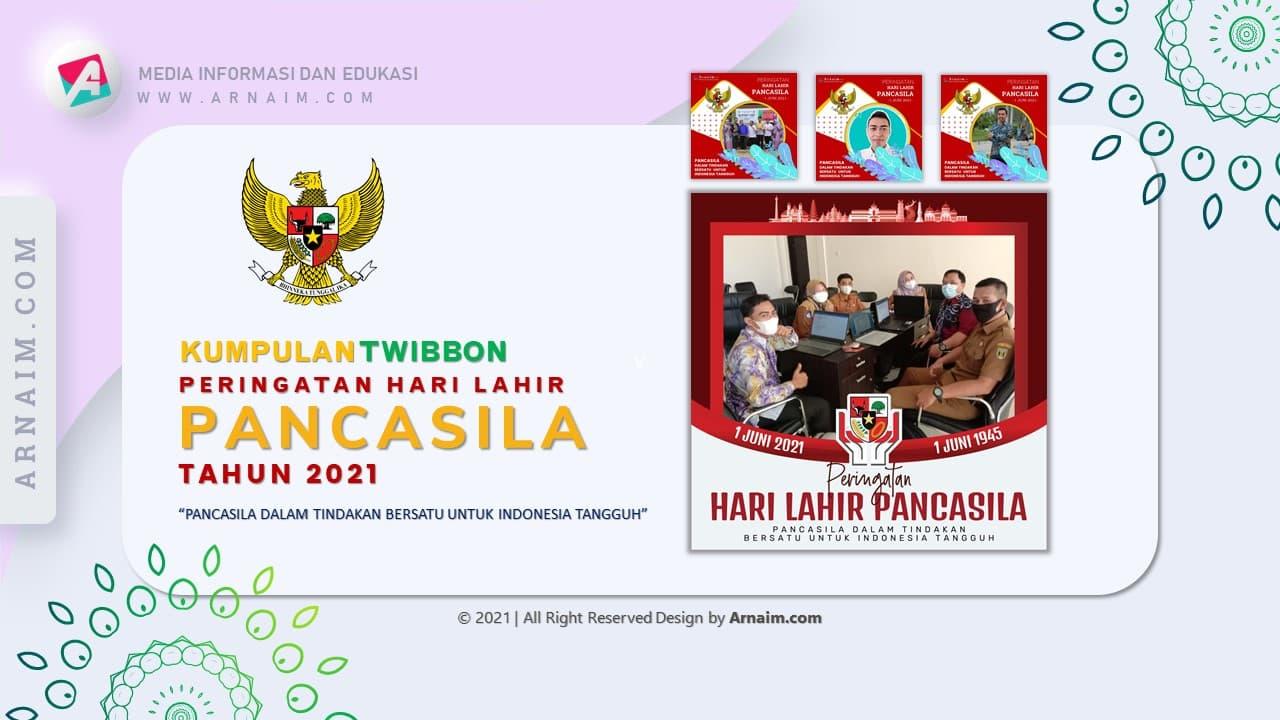 Arnaim.com - Kumpulan Twibbon Elegan Hari Lahir Pancasila Desain 5