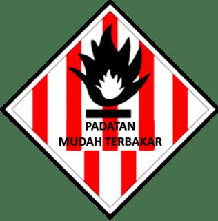 Simbol Padatan Mudah Terbakar