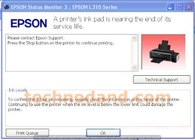 Jenis Error Pada Printer Epson  L110 L210 L220 L300 L310 L360 L365