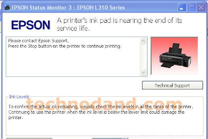 Printer Epson L110 L210 L220 L300 L310 L120 L360 L365 Error 2000020A dan 20000010 saat Reset