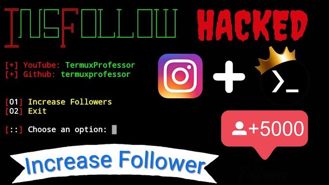 Termux Script For Increase Instagram Follower. InsFollow Tool