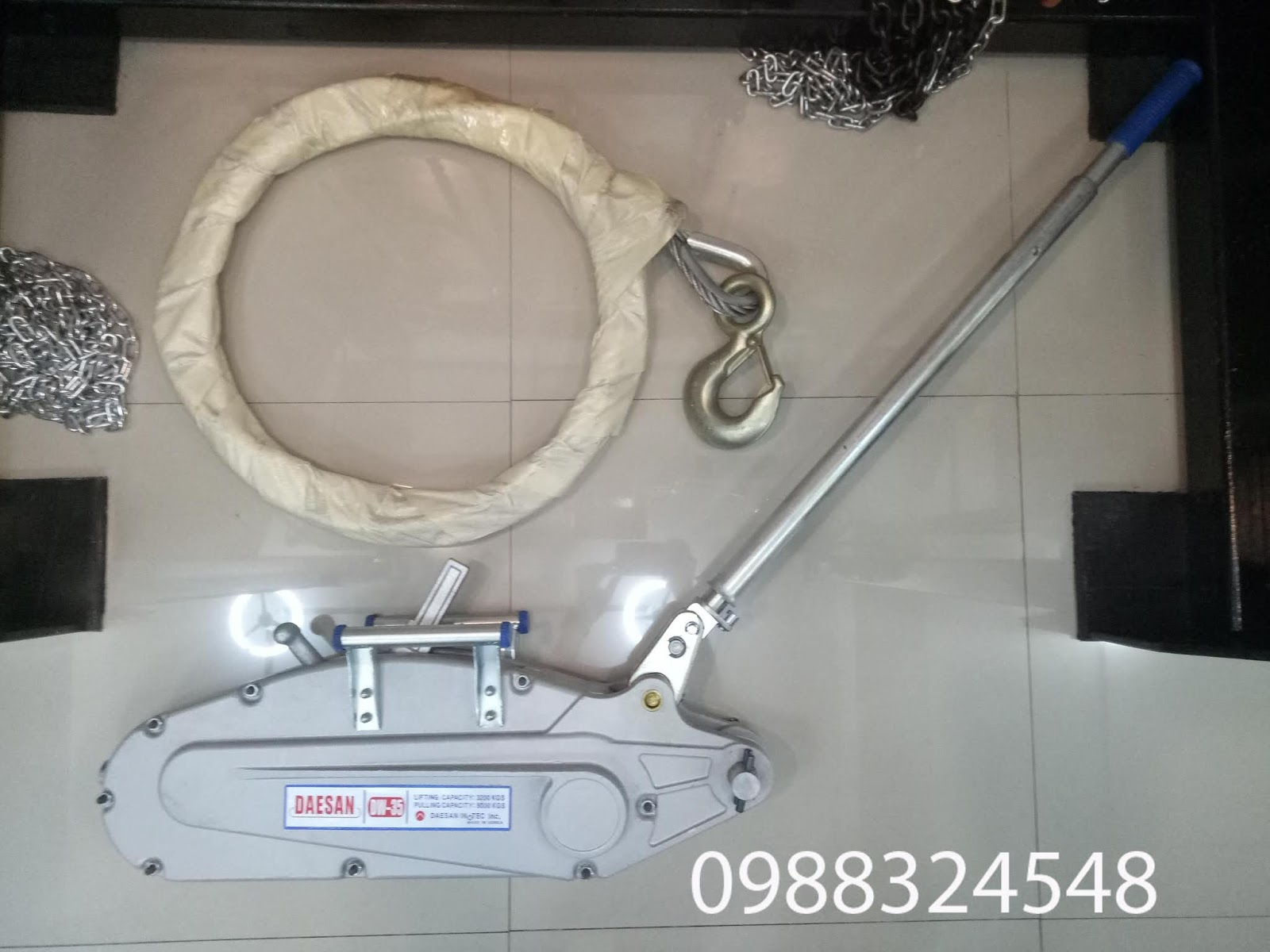 Tirfor căng cáp Daesan DW-35 3.2 tấn