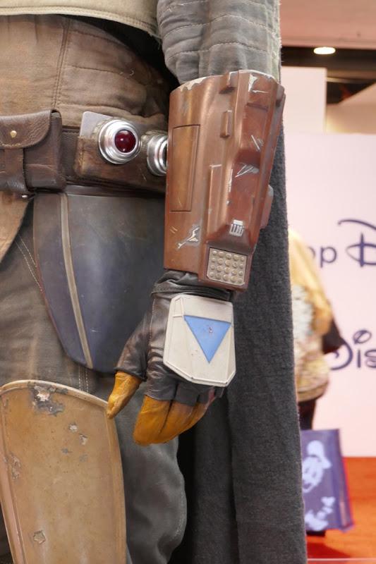 Mandalorian costume gauntlet detail
